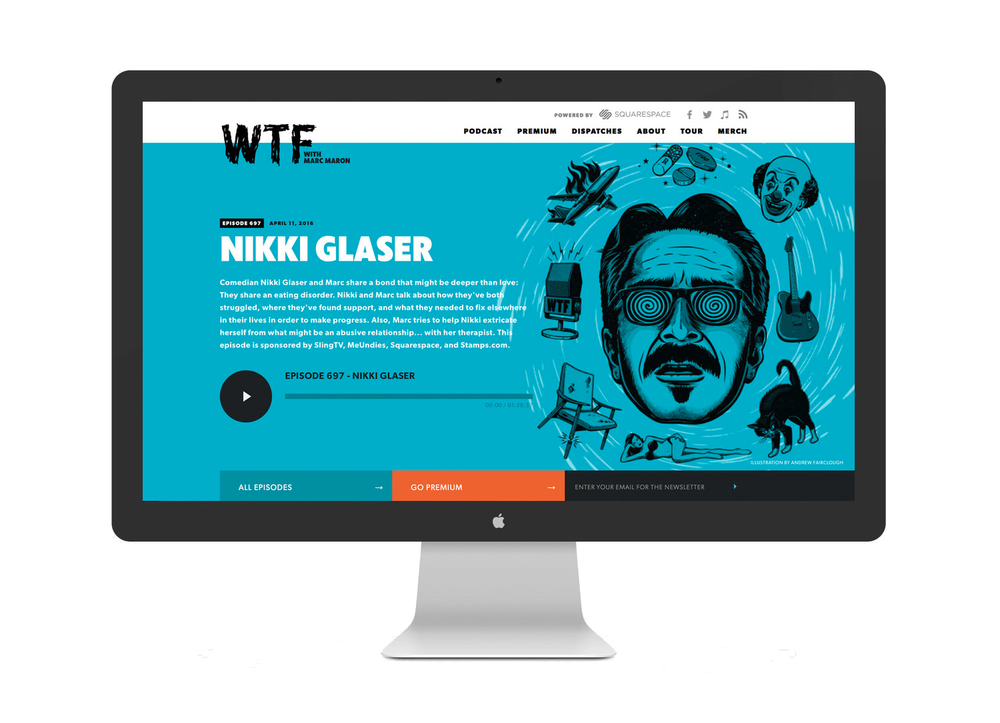 WTF Podcast with Marc Maron  Website Design + Development