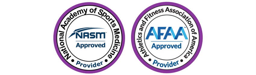 NASM and AFAA Approved Provider