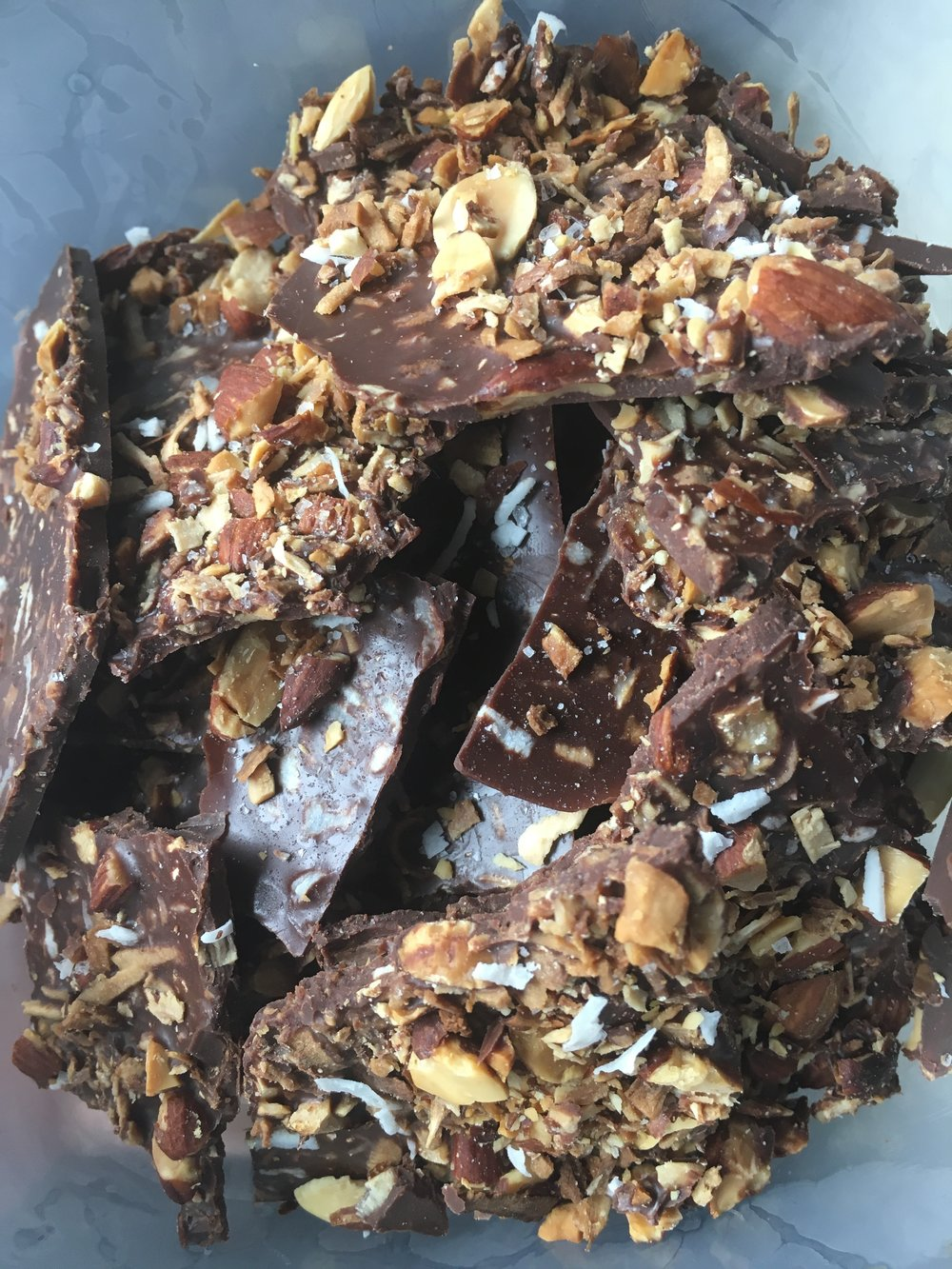Keto Salted Almond Coconut Bark