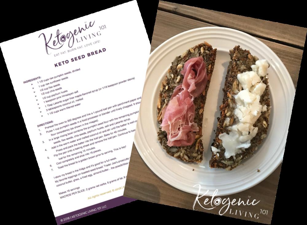 Keto Recipe Delicious Seed Bread Ketogenic Living 101