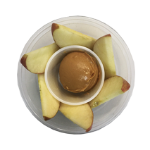 Apple Butter Almond Dippers - Fuji apples soaked in lemon juice and served with almond butter.One Size $3.99