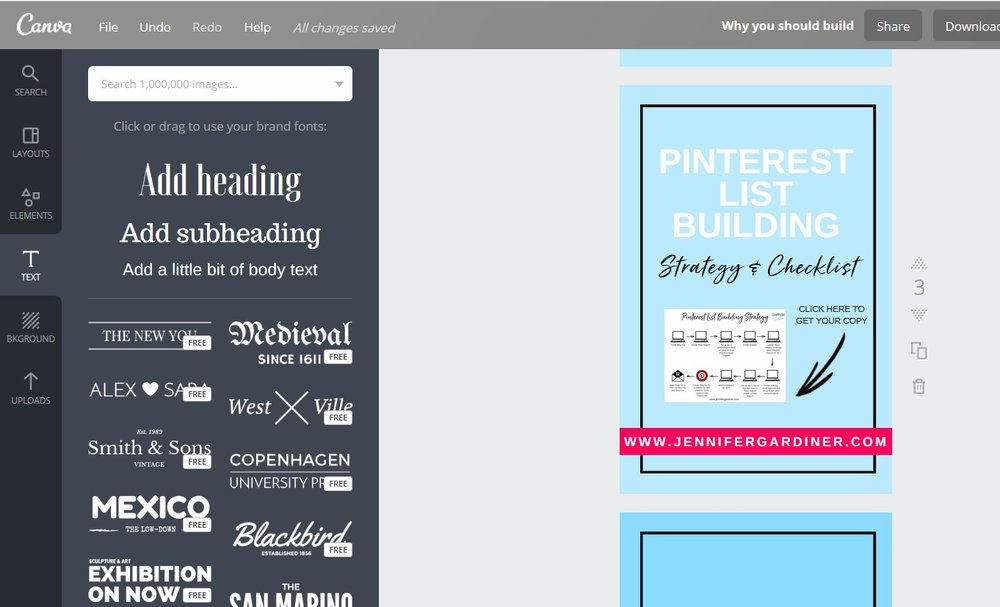 Creating a Pinterest Graphic in Canva