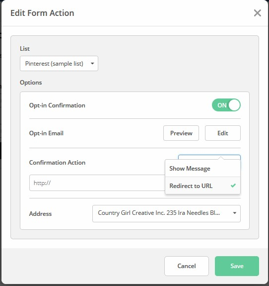 Edit Urls for Email Form