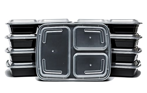 3 Compartment Meal Prep Dishes