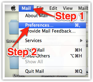 Whitelisting Dark Chapter Press emails in Mac Mail.
