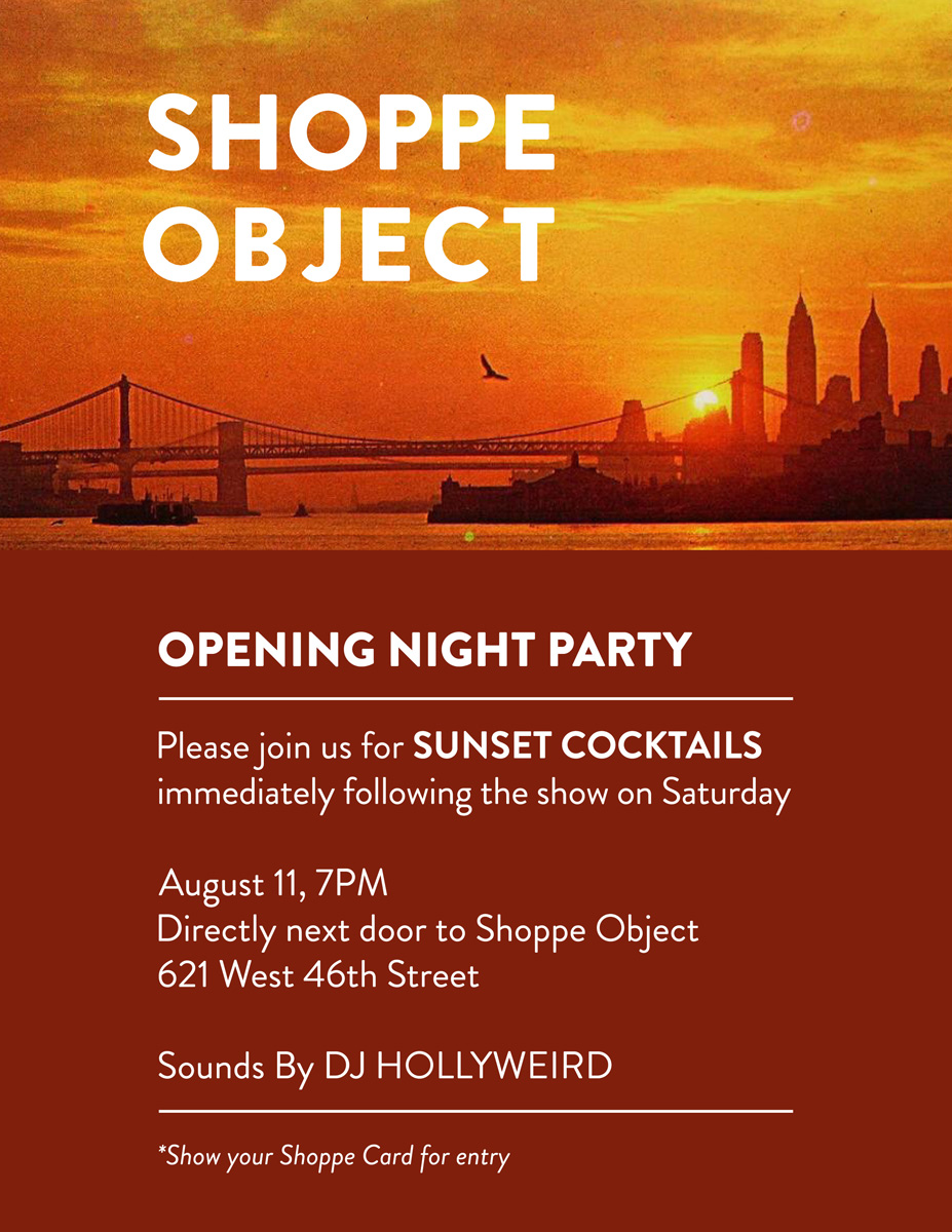 Shoppe Object Opening Night Party Invitation