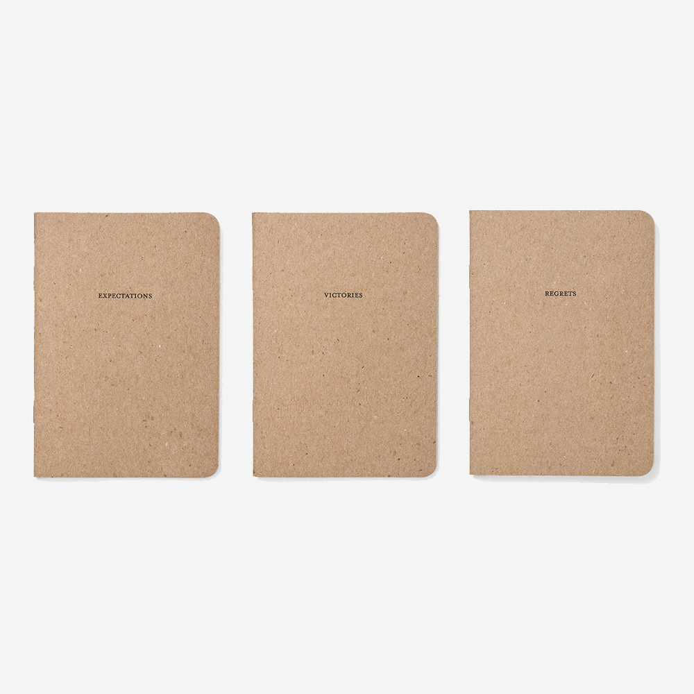 Notebooks: Victories, Regrets, Expectations - Set Editions