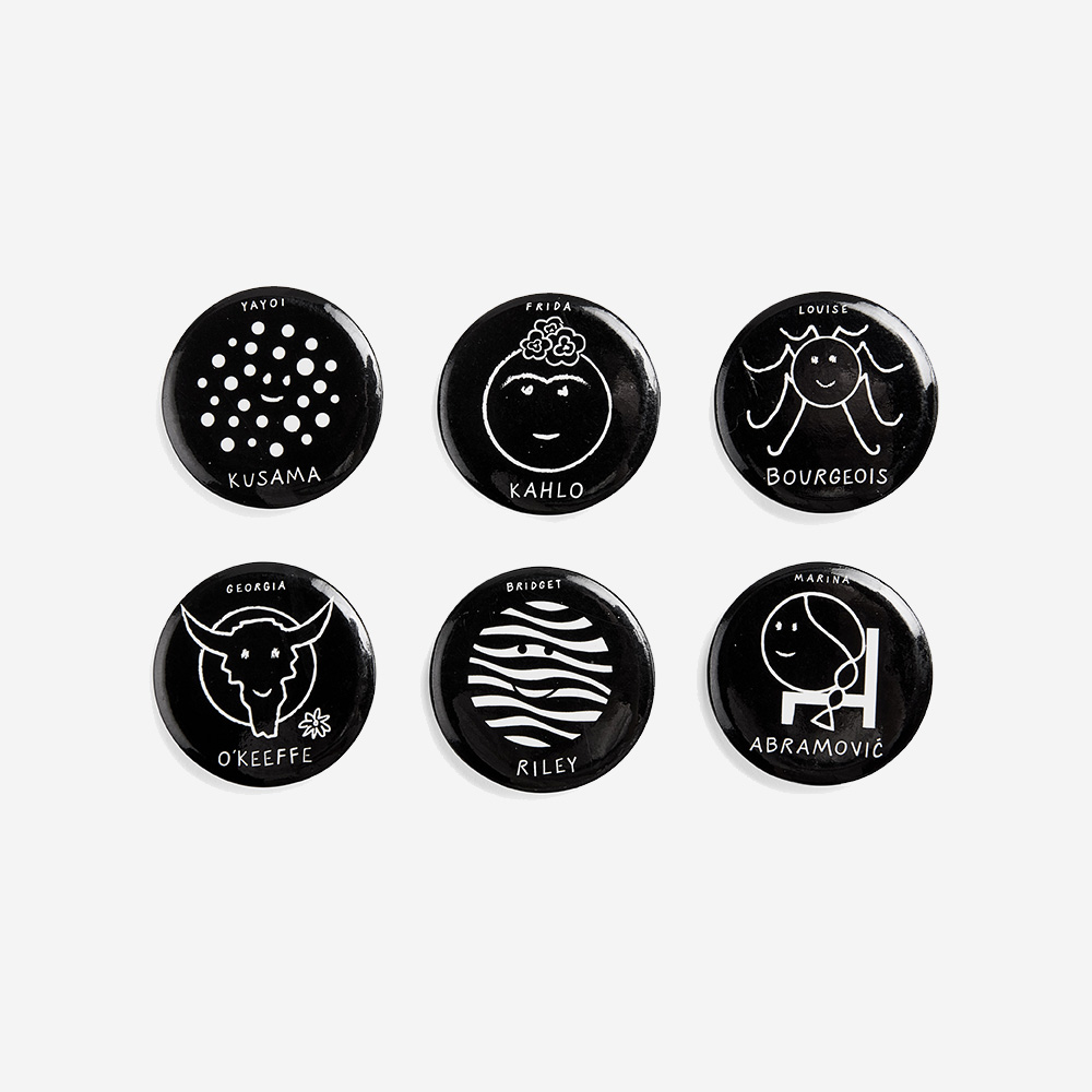 Herstory of Art Button Set - MoMA