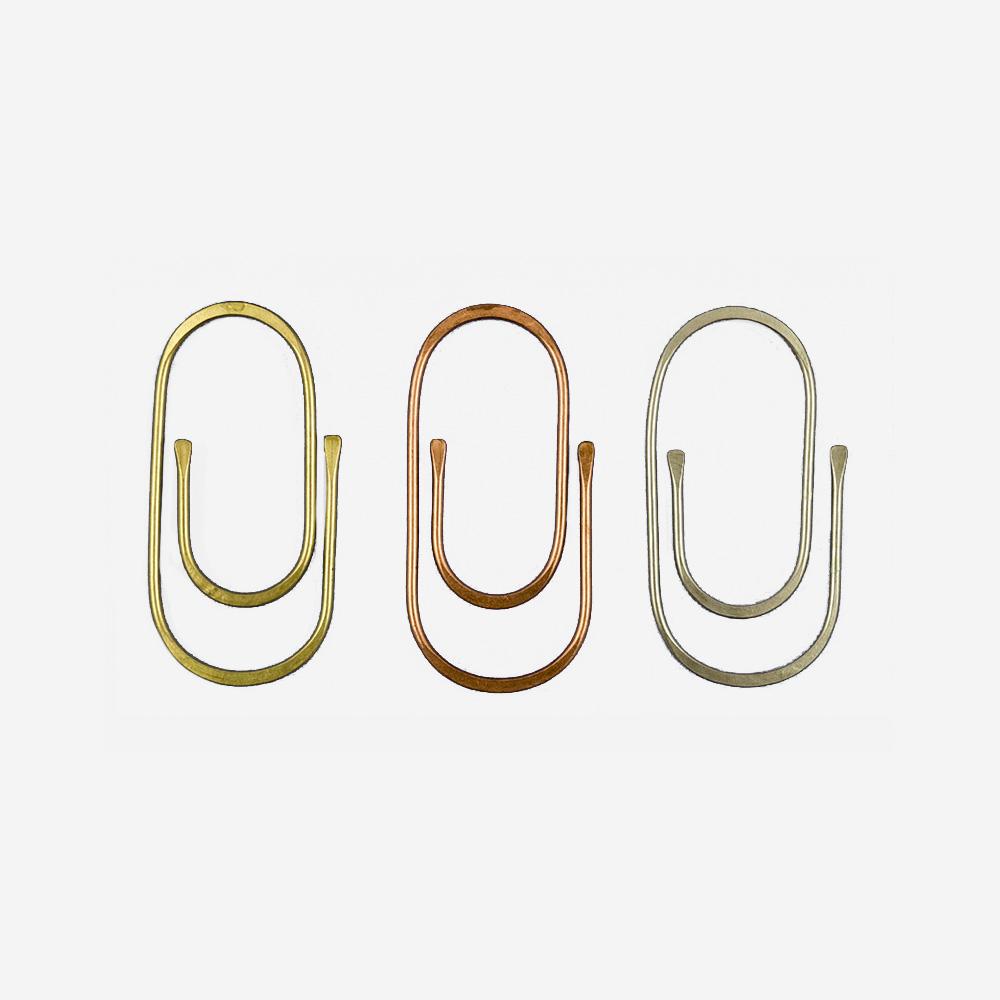 Paper Clip Set in Alpaca, Copper, and Brass - Sibilia
