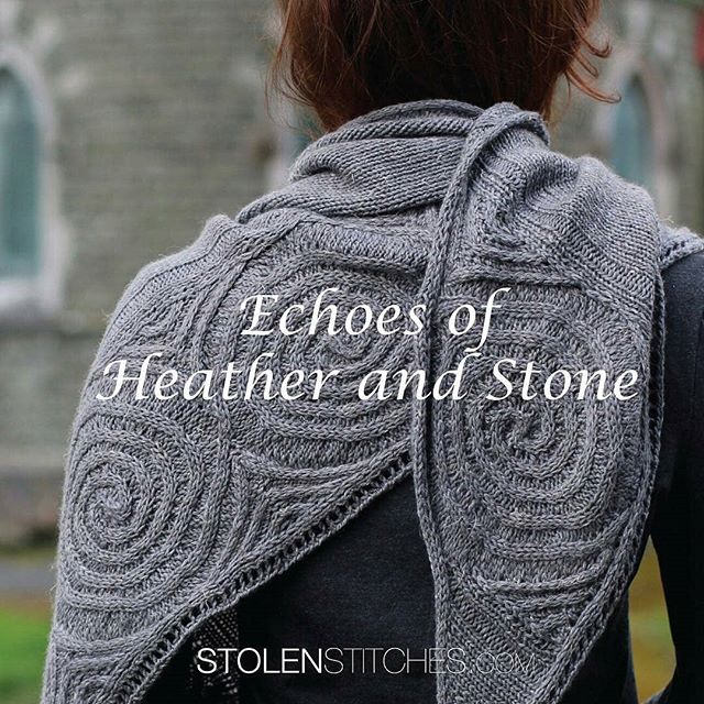 I'm so delighted that my Newgrange shawl design, inspired by Neolithic stone carvings, is featured on the cover of Carol Feller's upcoming book, 'Echoes of Heather and Stone'! Regrann from @feller.carol -  It's time to reveal the cover of my upcoming book; Echoes of Heather and Stone. 7 wonderful designers have contributed designs to the book; @lucyhagueknits, @letesknits, @woollywormhead, @aknitica, @lilalu72, @woodhouseknits, @kariebookish. I've done a blog post introducing the first design of the book and more will be coming over the next month. Watch out for book pre-sale going live later this month! . . . #twitter #knittersofig #nuayarn #Echoesofheather&stone #stolenstitches #ancientirishknits - #regrann