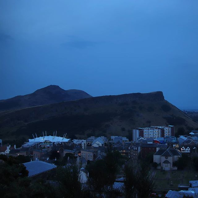 Current skies over Arthur's Seat, Edinburgh. Hoping the clouds will clear for the lunar eclipse!
