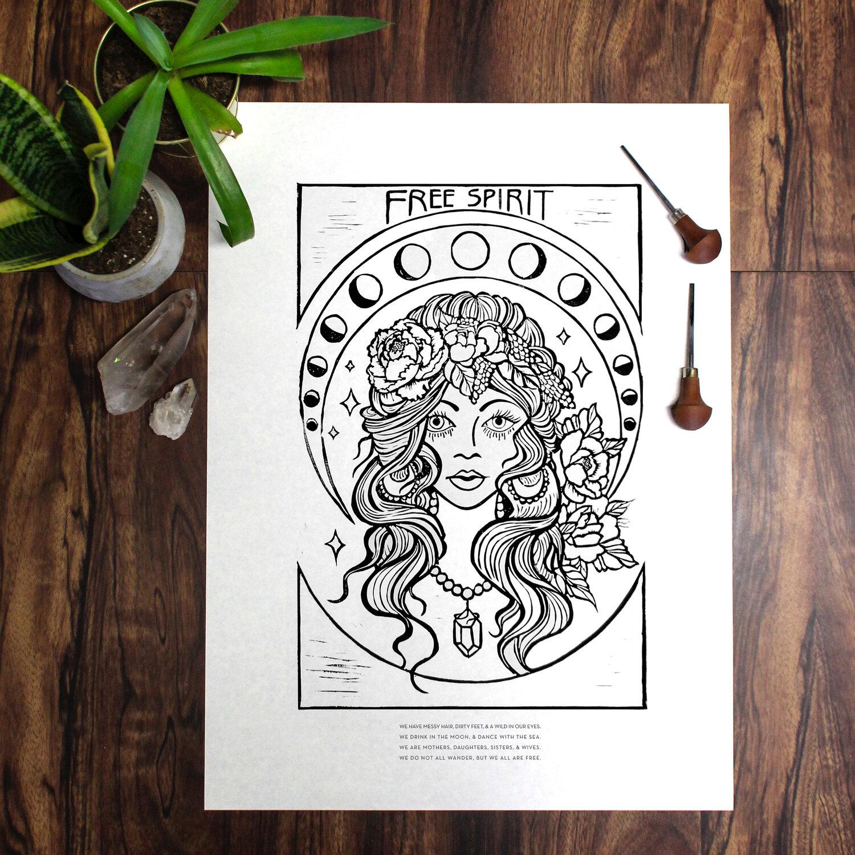 Free Spirit Black And White Midwest Mermaid