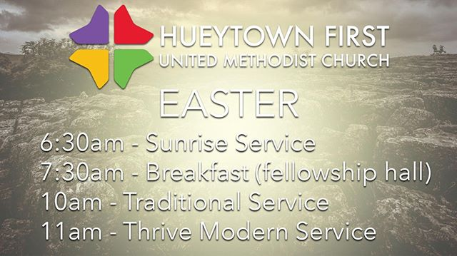 Easter is one of our favorite days of the year and we'd love to celebrate with you!  Come join us April 21st for some coffee, singing, and a great message to help you live your best life now.  See you then! 🙌 #easter2019 #easter #hueytown #thrivehueytown #thrive #bestlifenow