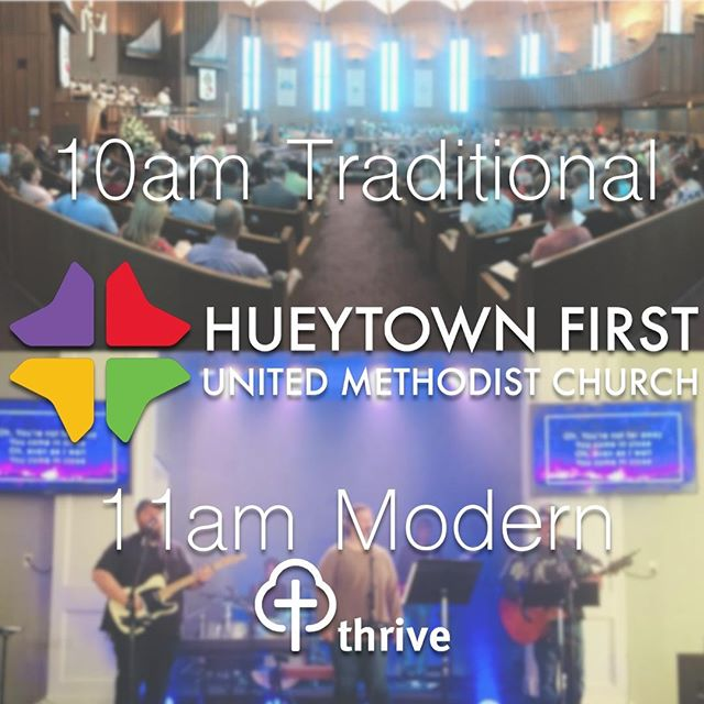 If you don't have a church home we'd love you to be our guest this Easter!  We are one church with two environments - 10am Traditional and 11am modern gathering called Thrive.  Come join us as we celebrate the life we can experience through friendship with Jesus.  See you Sunday!  #BeOurGuest #Easter2019 #Easter #Hueytown #LoveHueytownFirst #HueytownUMC #Thrive #ThriveHueytown