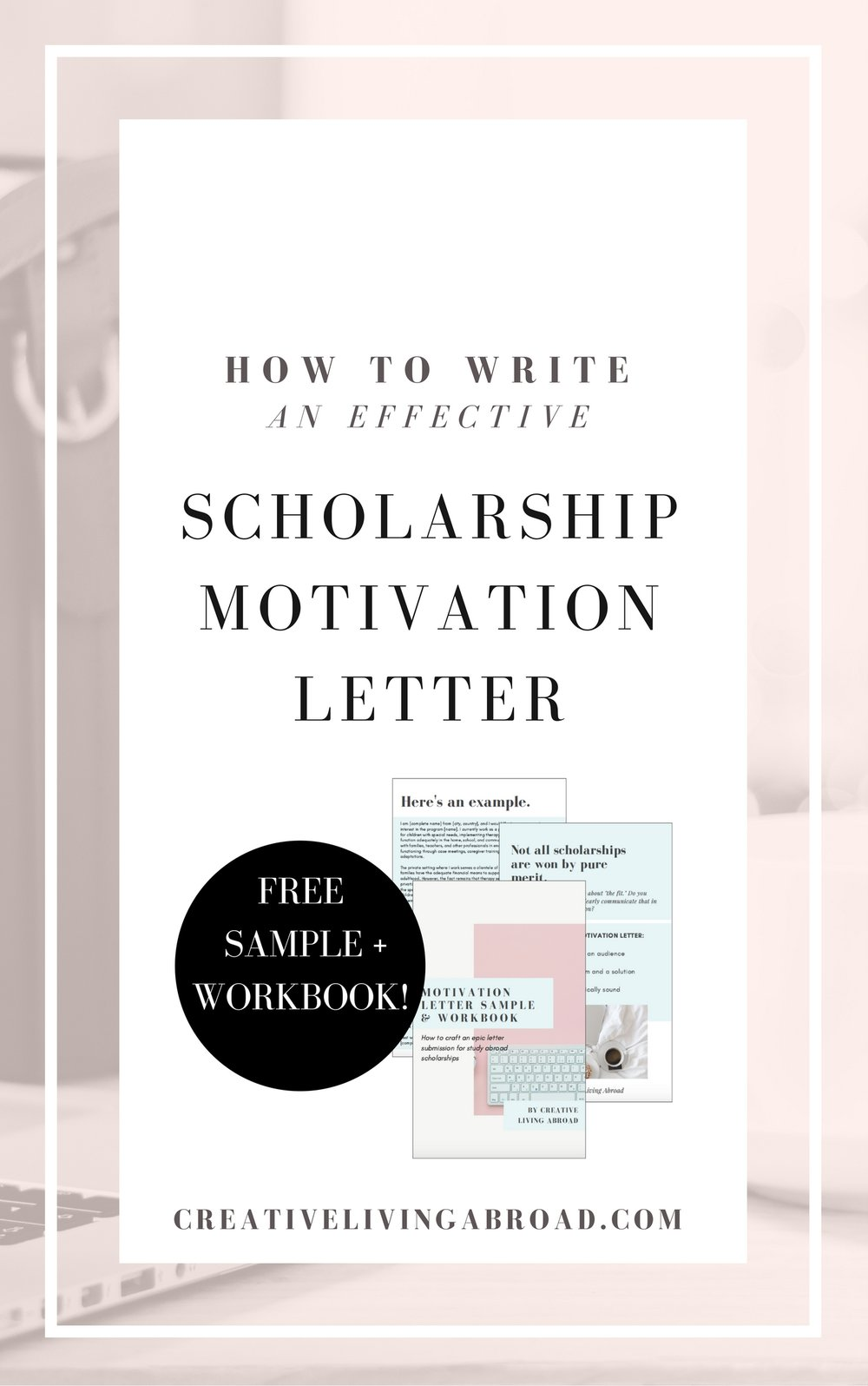 motivation letter sample scholarship program