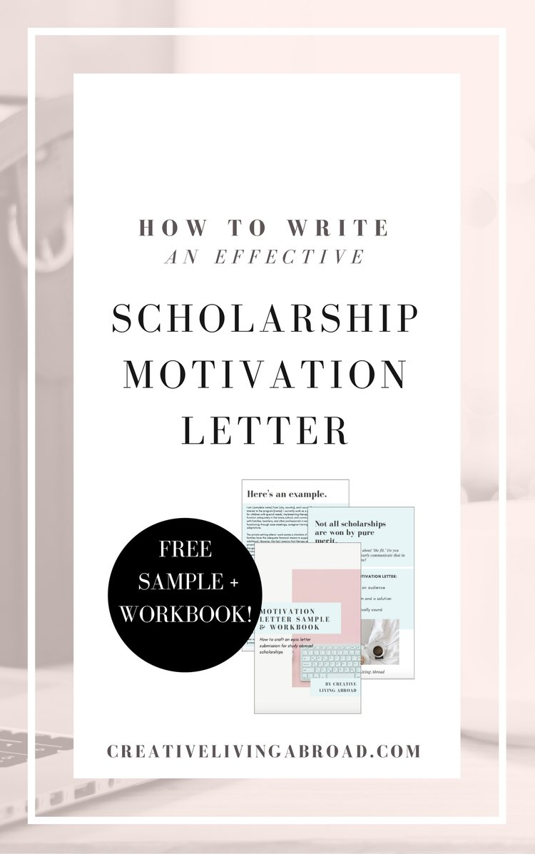 How To Write An Effective Scholarship Motivation Letter  Creative