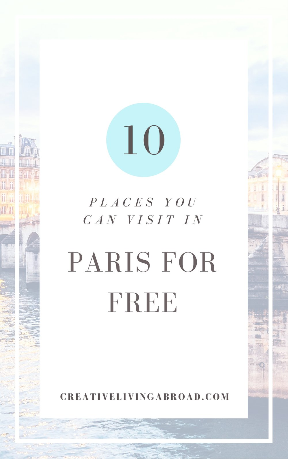 10 places you can visit in paris for free