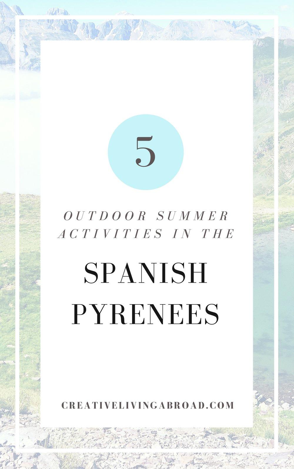 outdoor summer activities pyrenees spain