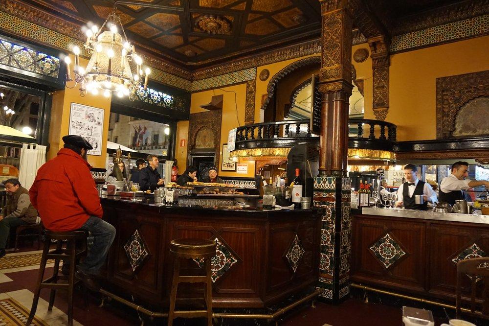 cafe iruña bilbao interiors