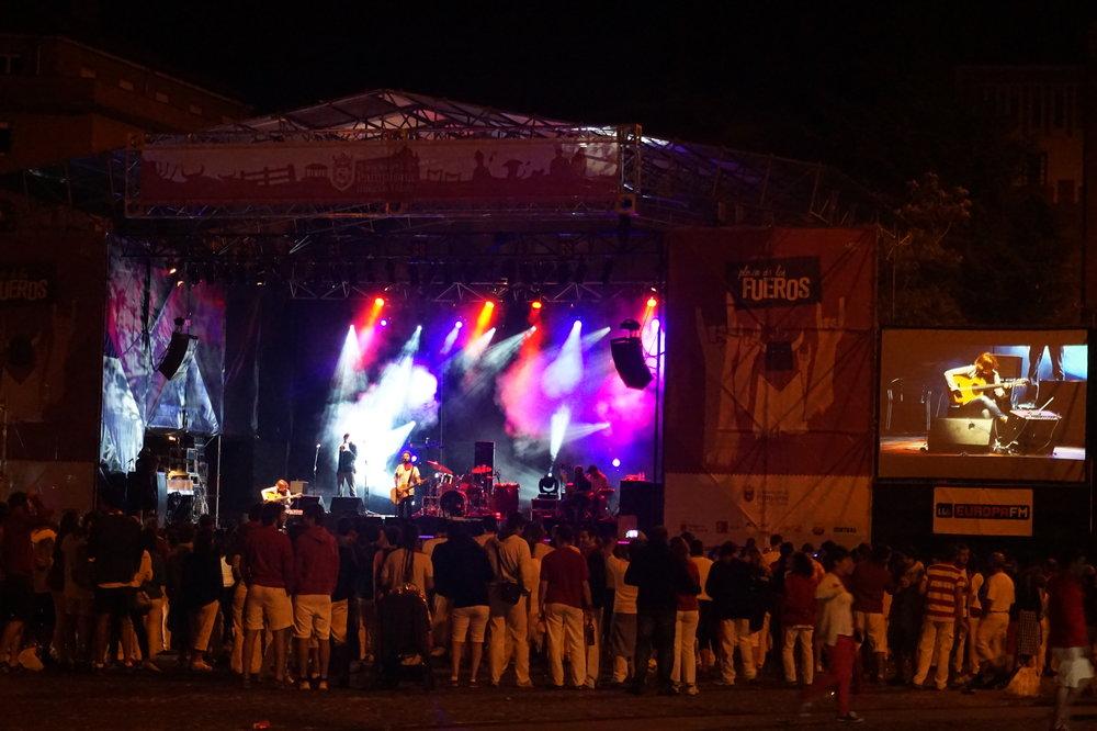 concert plaza de los fueros san fermin festival pamplona
