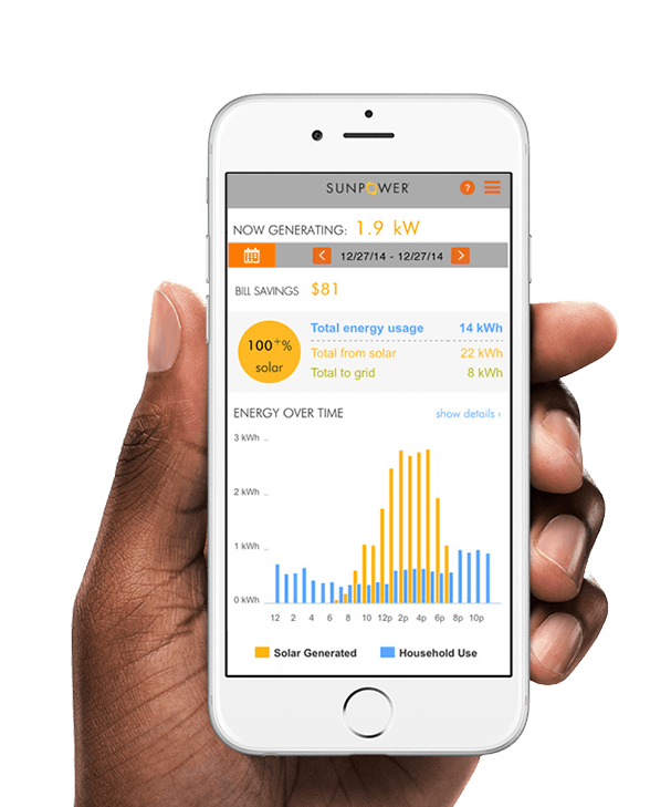 ENERGY FROM THE SUN, - It's easy to monitor your SunPower solar system and see your home's solar savings–anytime, anywhere–from your computer or mobile device.