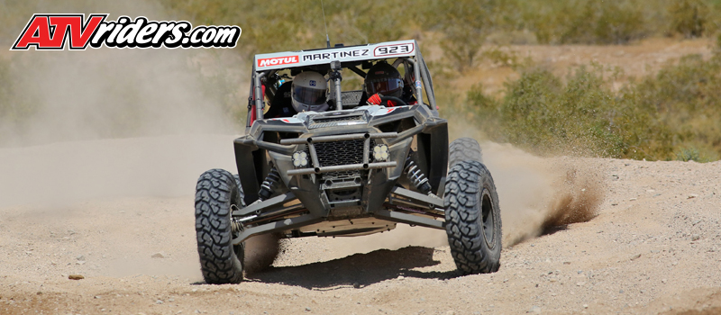 Polaris RZR's David Martinez was on the gas in the first lap