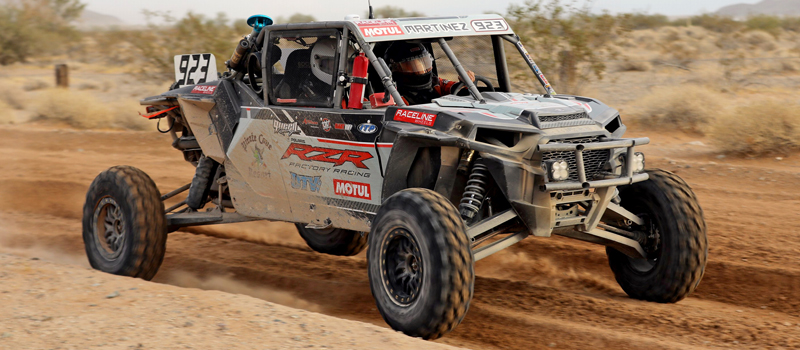 For 2017, David Martinez has switched to the Polaris RZR XP Turbo along with UTV Inc.'s Johnny Angal to build him his new race car for the the 2017 BITD Series, but he raced at the Parker 250 in Angal's RZR while his new car is still being built
