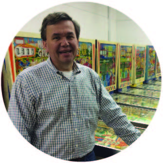 "TOM TAYLOR ""Detail Guy"" Tom has been active as a collector of coin operated games for over 30 years and has assembled one of the largest collections in the Midwest. His passion for games brings player's perspective to the design and development of our products."