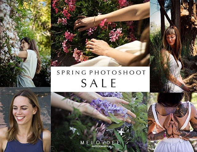 . Attention all conscious entrepreneurs, healers & artists - Spring is here! Do you need new images to refresh the look of your brand? I'd love to work with you!  I'm happy to announce that I'm offering another photoshoot promotion for the new season.  These prices expire on April 30th, 2017,  so book your photo-ritual today! (San Diego & Los Angeles areas only.) . PACKAGE A - $99 3 high res digital images* . PACKAGE B - $175 5 high res digital images* . PACKAGE C - $210 8 high res digital images * . ***EARLY BIRD SPECIAL*** 2 ADDITIONAL FREE PHOTOS FOR THE FIRST 5 PAID CUSTOMERS . *Pricing includes a 1-hour photoshoot and photo editing . *Travel expenses not included . If you purchase your package before the end of April, you can schedule your photoshoot for any month this year. . For any questions or interests email me at: melodee.solomon@gmail.com  Looking forward to capturing the essence of you and your business! These photoshoots are always so fun and easy.  Oh yeah, and I work really well with the camera shy too, all you have to do is be yourself ❤️