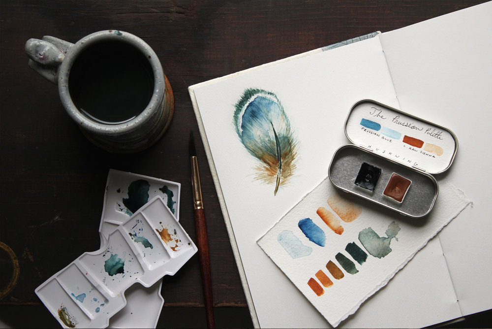 Artwork by Kirsten Cooner, featuring  The Prussian Palette .