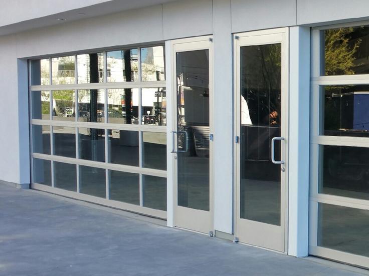 Image of: Commercial Garage Door Restaurant To Storefront Glass Modern Garage Doors u0026 For Restaurants