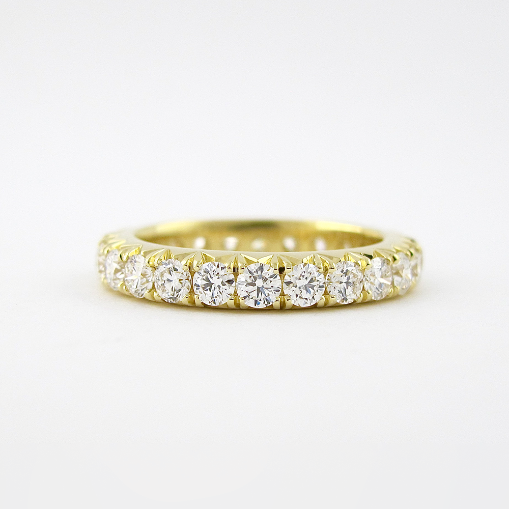 6f5996ecec8 Michael Alan Jewelers-Yellow Gold French-Set Eternity Band