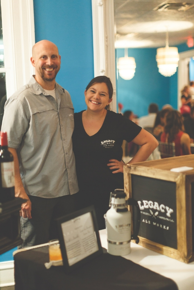 Owners Matt and Liz Jacobs at Porchfest   Photo by  Jessica Lea Photography