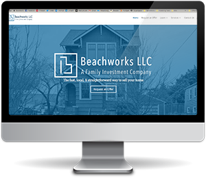 Beachworks' website after