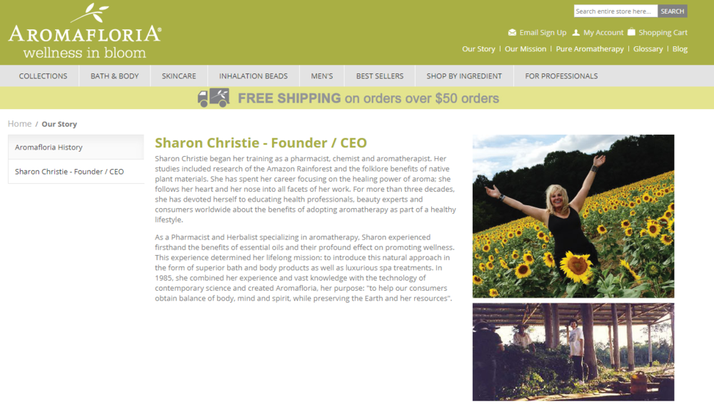 inspirational-about-pages-women-owned-businesses-products-aromafloria