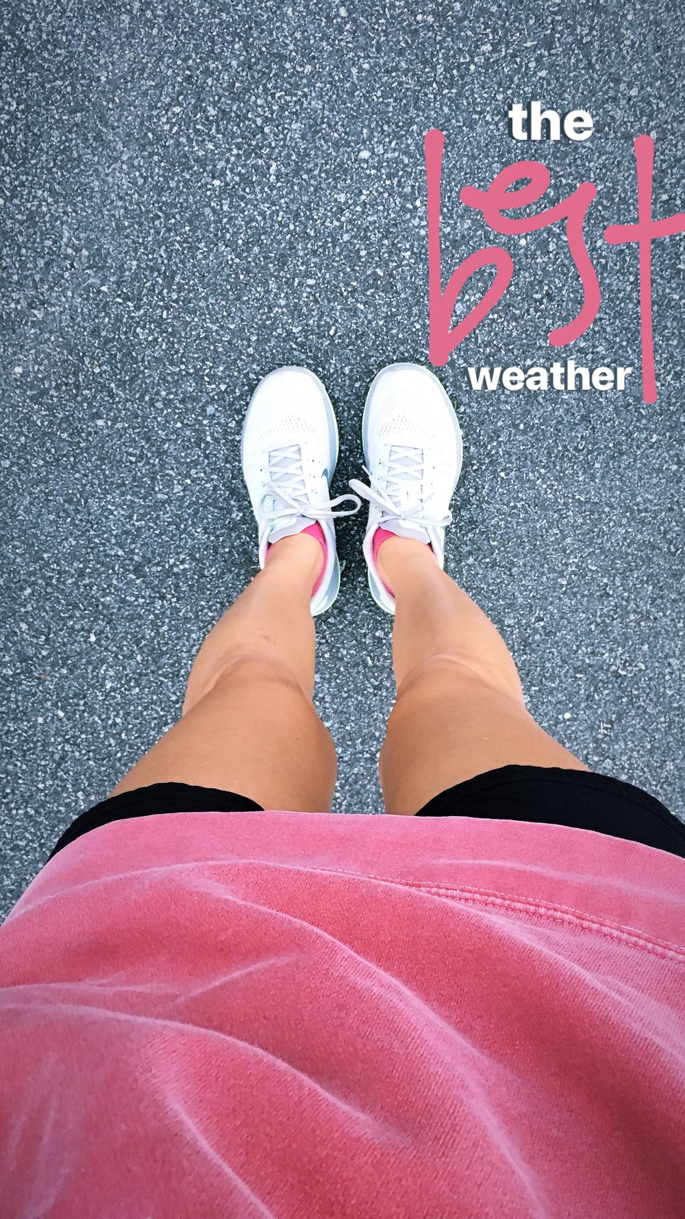 Shorts + sweatshirts. There's nothing better.