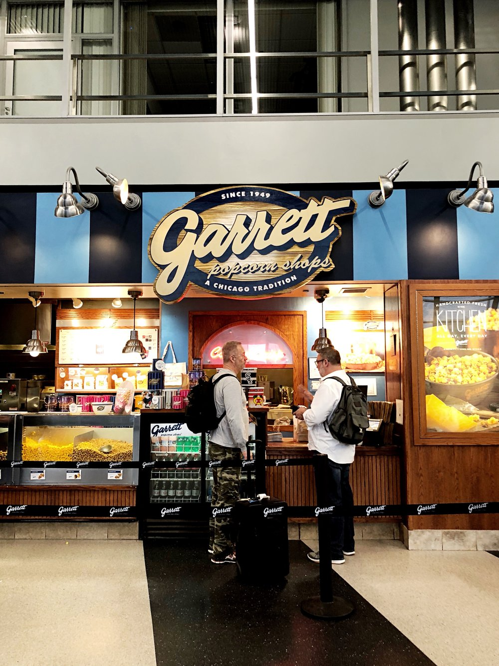 Yes I did run through the terminal and risked missing my flight just to try Garrett's for the first time...