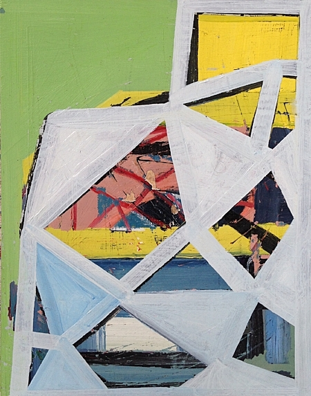 "White Web, oil on panel. 14"" x 11,"" 2017."