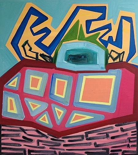 "Cuckoo, oil on panel. 38"" x 34,"" 2017."