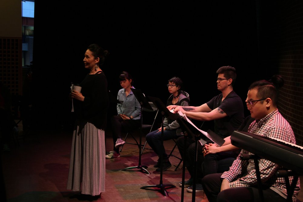 Reading: Meatcats Writers and Collective members in Urban Ink Production    Photo:  Tetsuro Shigematsu