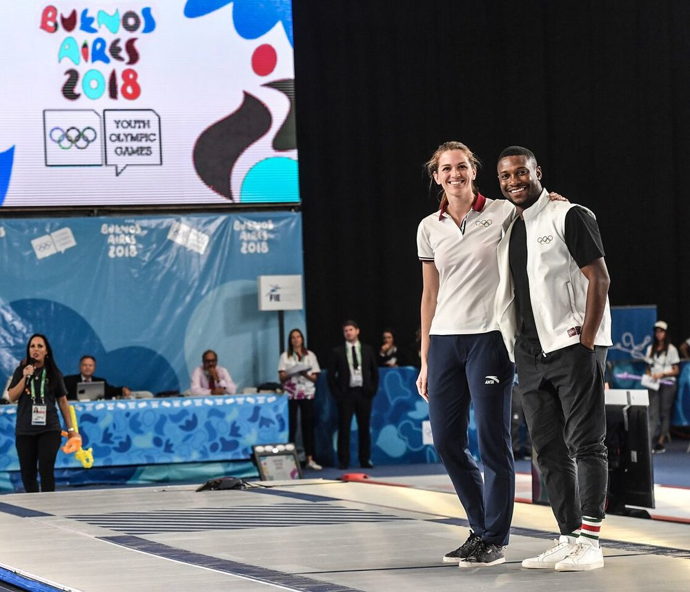 Selected by the IOC, F.I.E., and U.S.O.C. as an Athlete Ambassador the Youth Olympic Games held in Buenos Aires, Argentina. (October 2018).