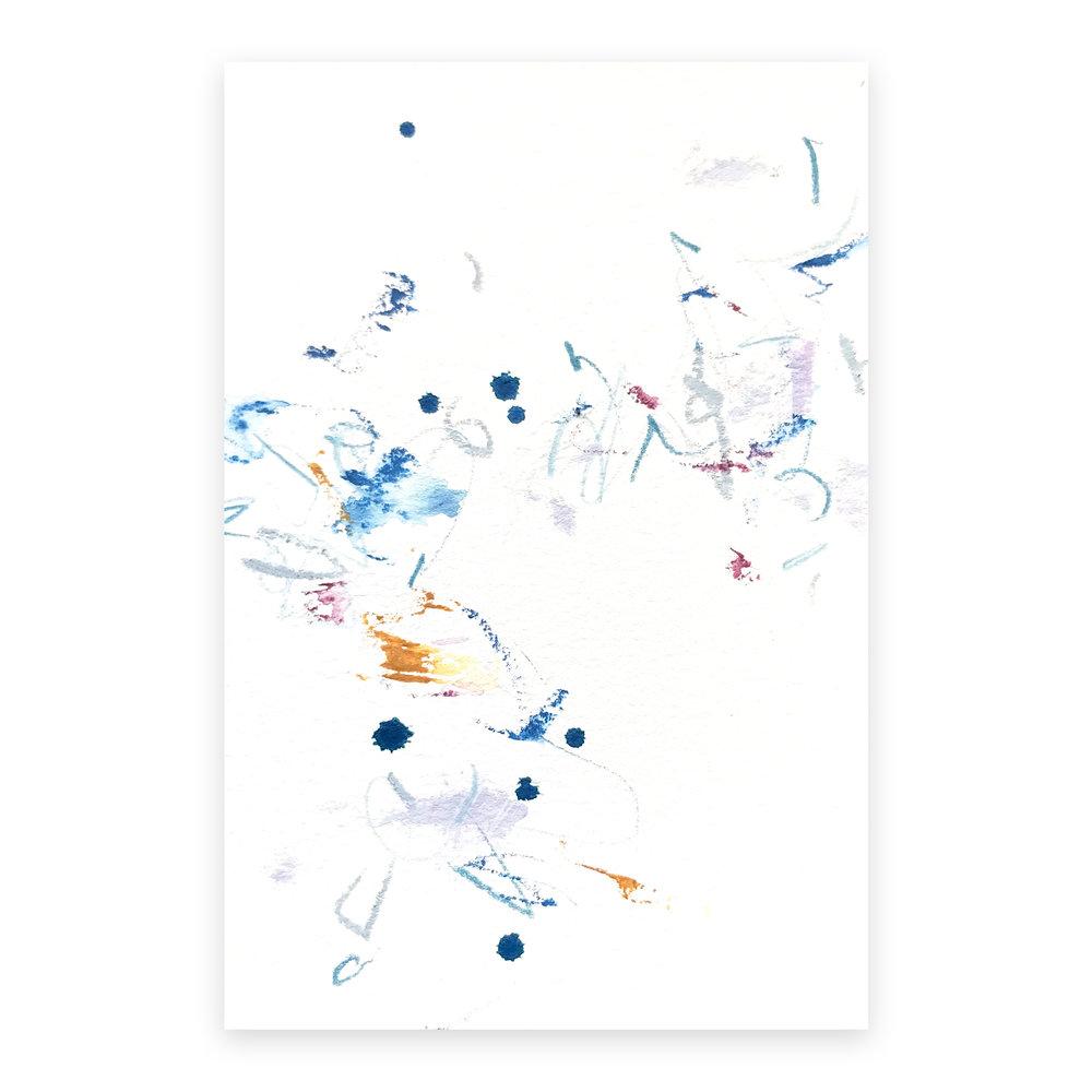 dd_nov08181  Mixed media on paper 14.8×10cm