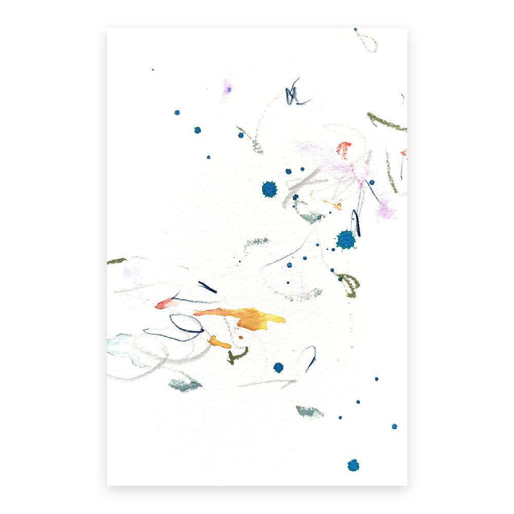 dd_nov11181  Mixed media on paper 14.8×10cm