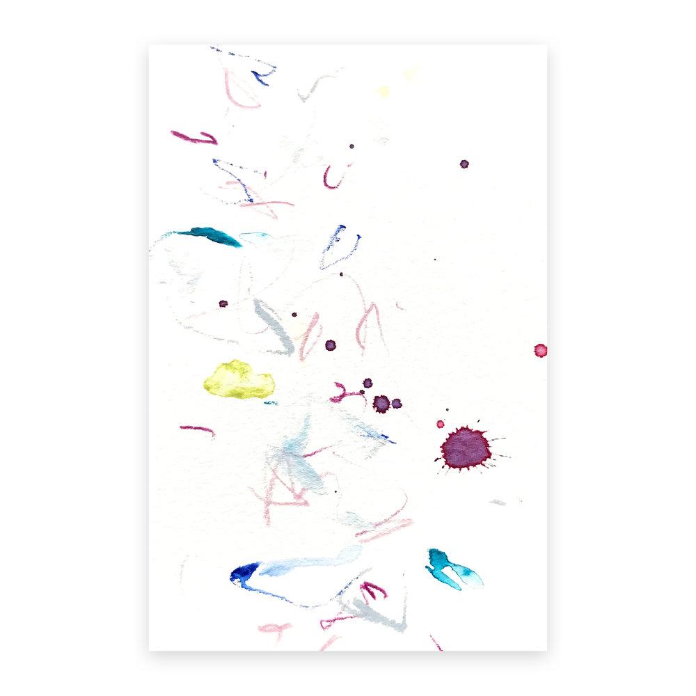 dd_nov13181  Mixed media on paper 14.8×10cm