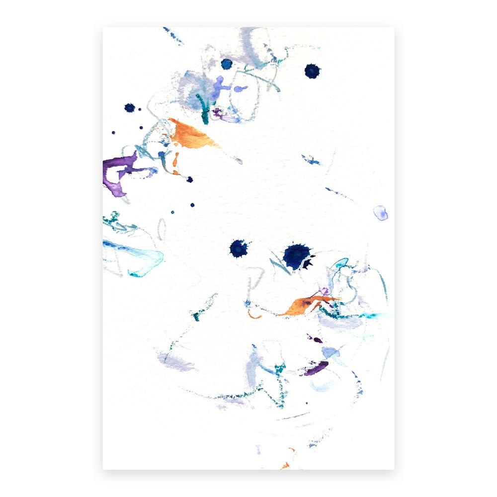 dd_nov17181  Mixed media on paper 14.8×10cm