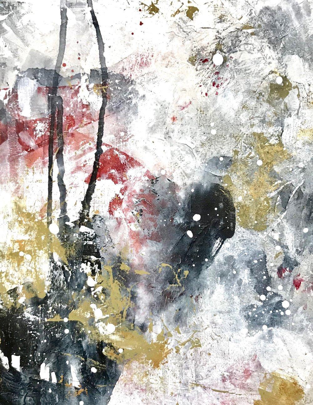 Untitled_nov11171  Mixed media on canvas.  40.9×31.8cm