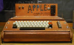 The original Apple computer. It was designed to easily port into a standard television screen.