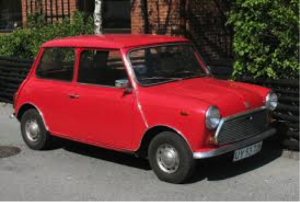 Image 8. The original 'Mini'. Note its extremely compact size relative to other vehicles of the time (1959).