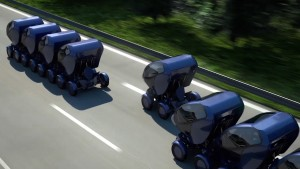 The EO Smart Connecting Car 2 imagined in 'convoying' mode