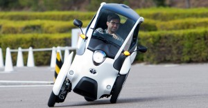 Toyota i-Road demonstrating 'active lean' technology